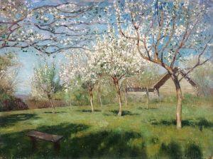 Левитан Цветущие яблони