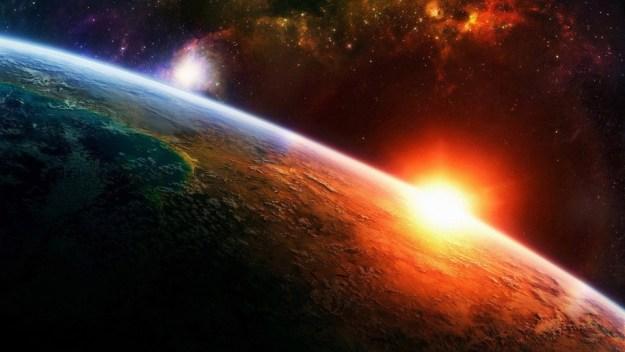 Sunrise-Earth-in-space