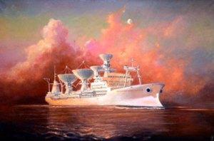 Флагман космического флота теперь существует только на картине космонавта. Фото: с сайта www.corpoby.com
