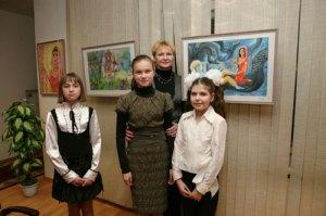 Лебедева Мария, Мешкова Елена и Кяшкина Екатерина - победители конкурса детского рисунка