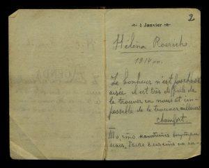 Фрагмент записной книжки Елены Ивановны Рерих, 1914 год.