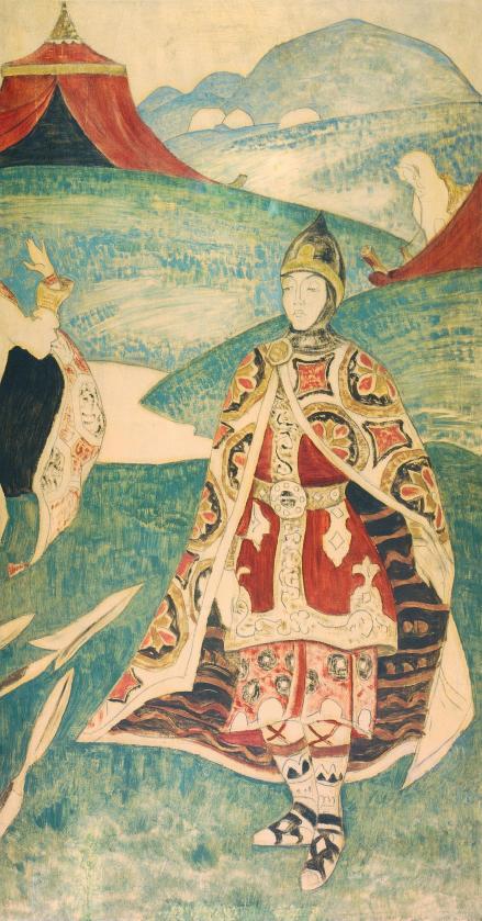 "Картина Н.К.Рериха ""Русский воин"". 1900-е, 1910-е."