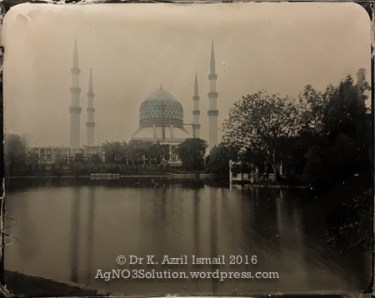 The Blue Mosque - Hand-tinted