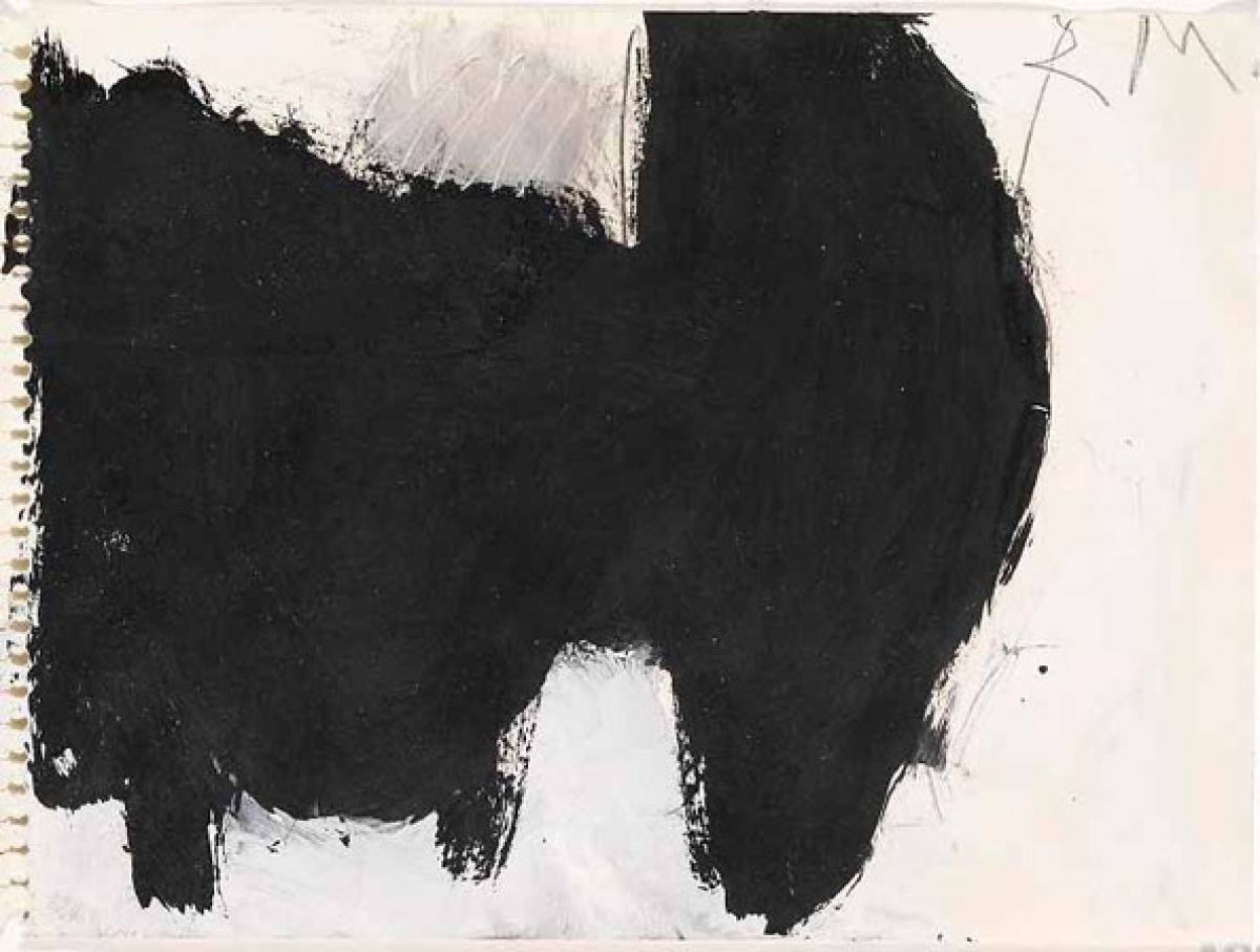 Painting Paper Drawings Of Robert Motherwell Art