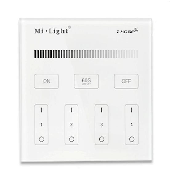 Mi.Light T1 4-Zone Brightness Dimmer Smart Touch Panel