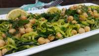 Zucchini Noodles Recipe with Chickpeas and Fresh Herbs, Weekly Meal Plans, Vegetable Recipes, Clean Eating Recipes, Healthy Dinner Recipes, Recipes for Dinner