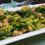 Zucchini Noodle Salad Recipe with Chickpeas and Fresh Herbs