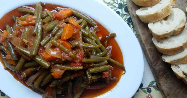 Turkish Style Braised Green Beans Recipe
