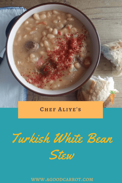 Turkish Style White Bean Stew Recipe, turkish soup recipe, turkish food, turkish recipes, Weekly Meal Plans, Vegetable Recipes, Clean Eating Recipes, Healthy Dinner Recipes, Recipes for Dinner