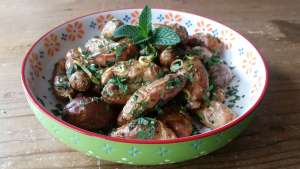 roasted potato salad recipe fresh herbs lemon zest