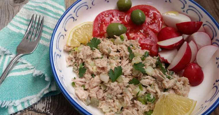 Mayo Free Tuna Salad Recipe
