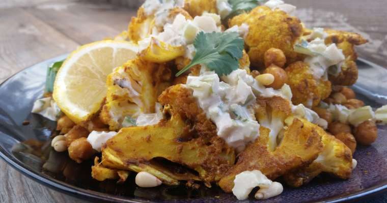 Mediterranean Cauliflower with Tahini Sauce
