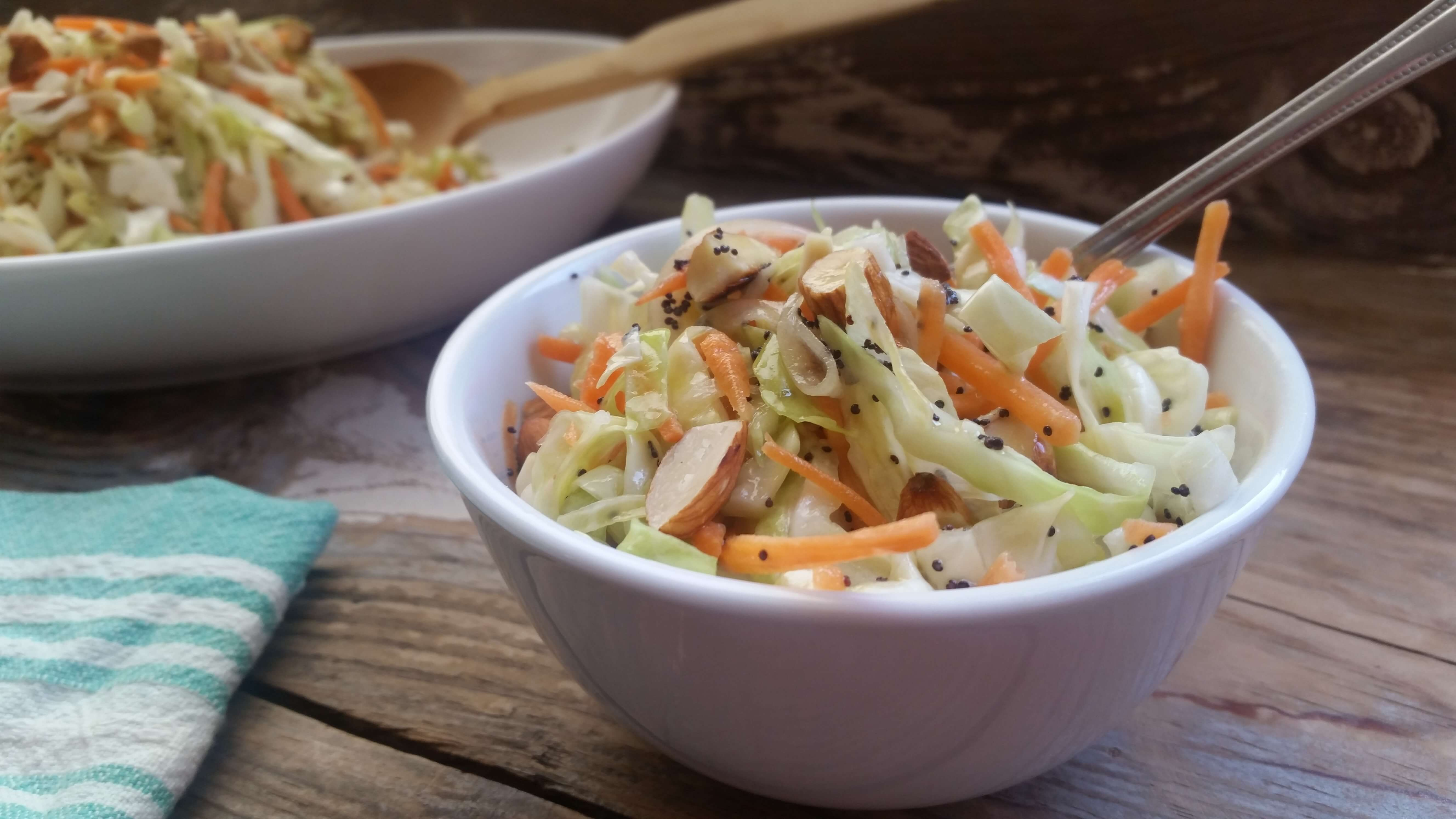 Cabbage Salad Recipe with Sweet Poppyseed Dressing