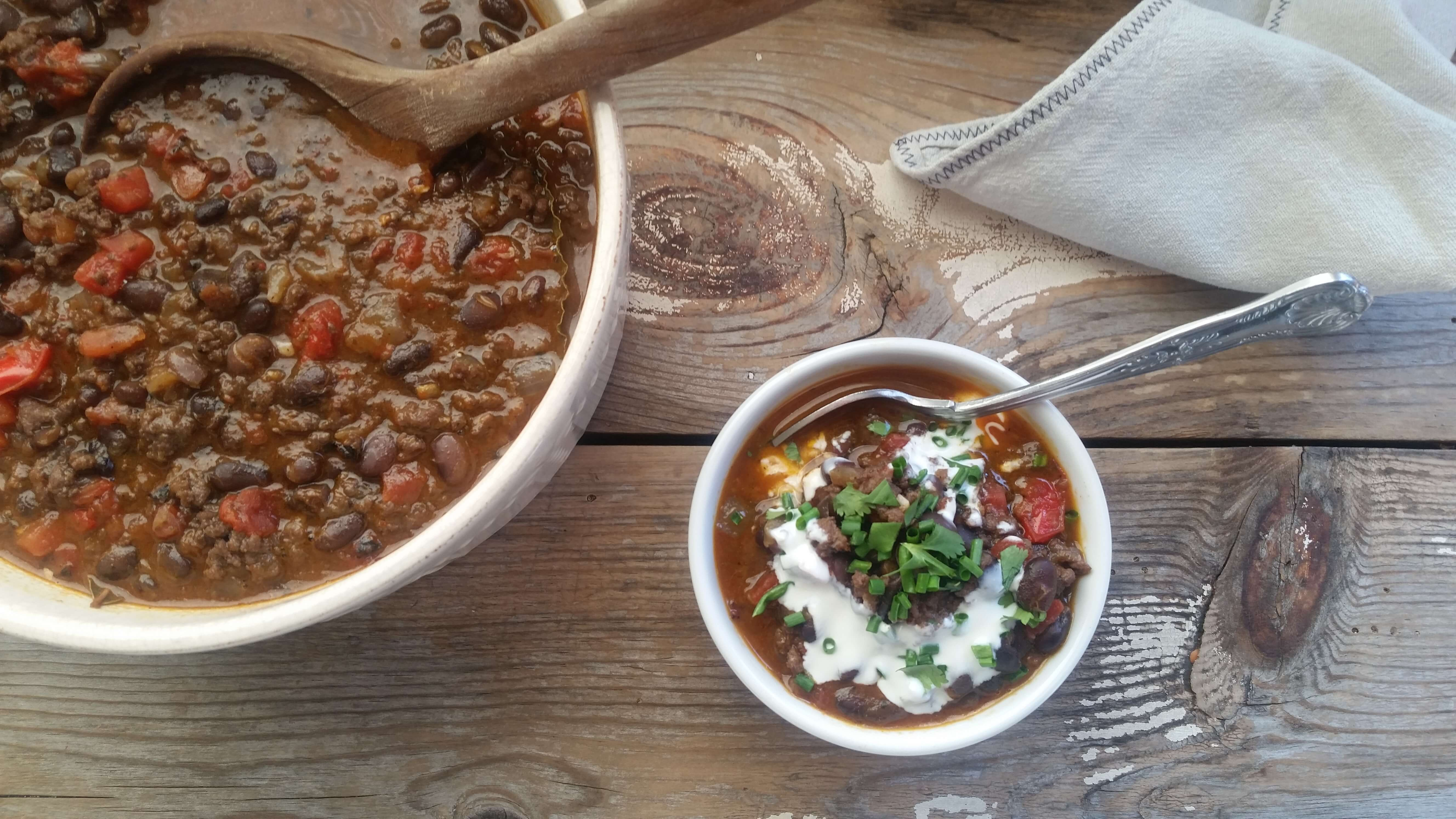 Smoky Black Bean Chili Recipe