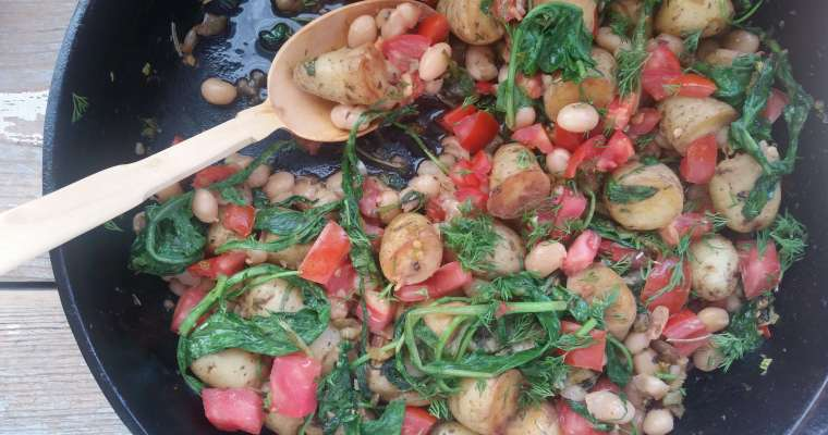 One-Pot Vegetarian Meal | Mediterranean-Style Beans and Greens Recipe