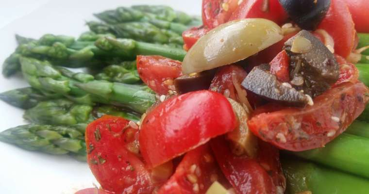 Easy Asparagus Recipe with Tomato-Olive Salsa