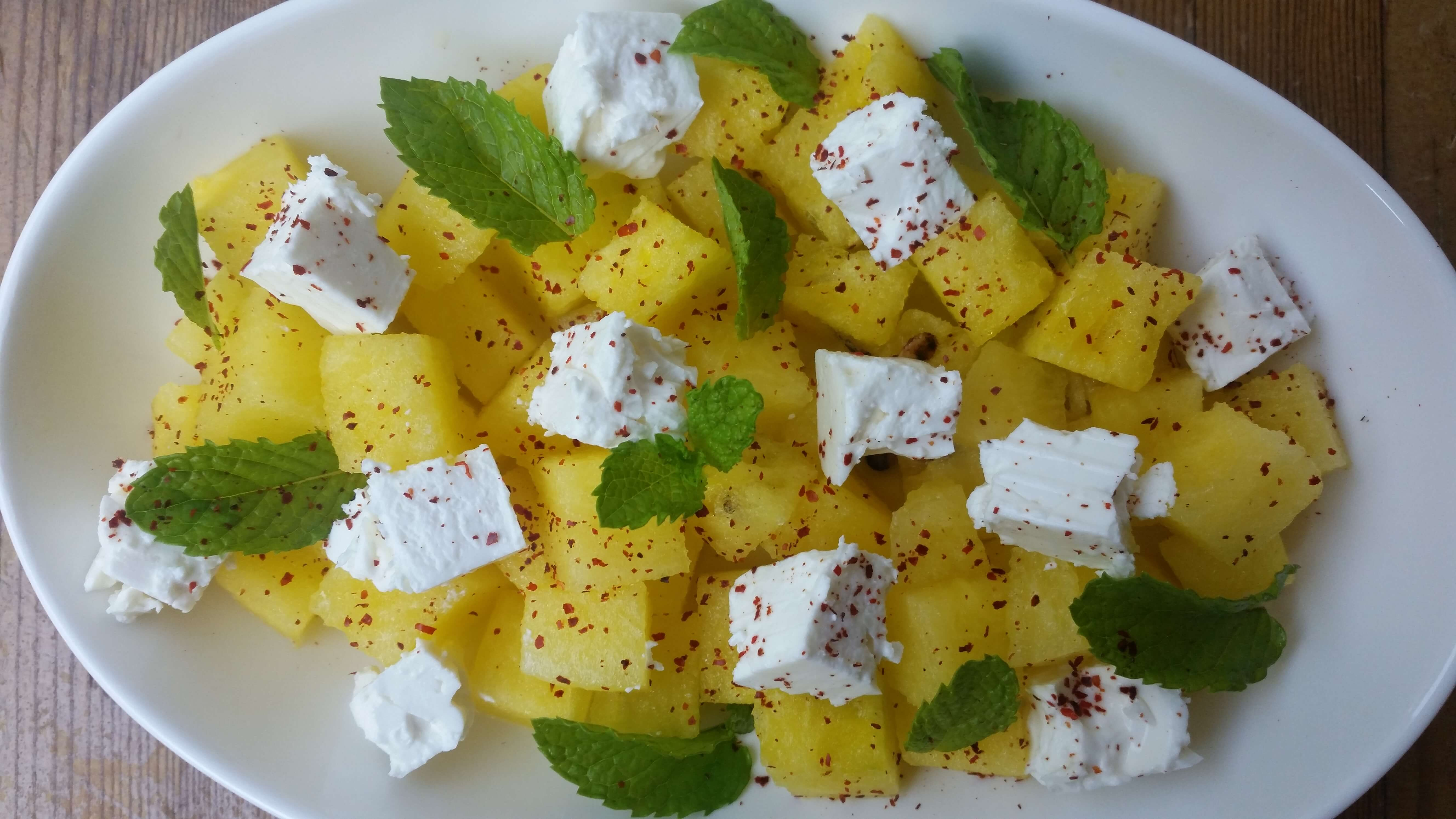 Watermelon Feta Salad Recipe with Mint
