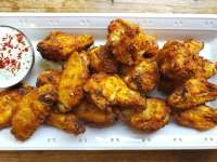 baked chicken wings, homemade meals
