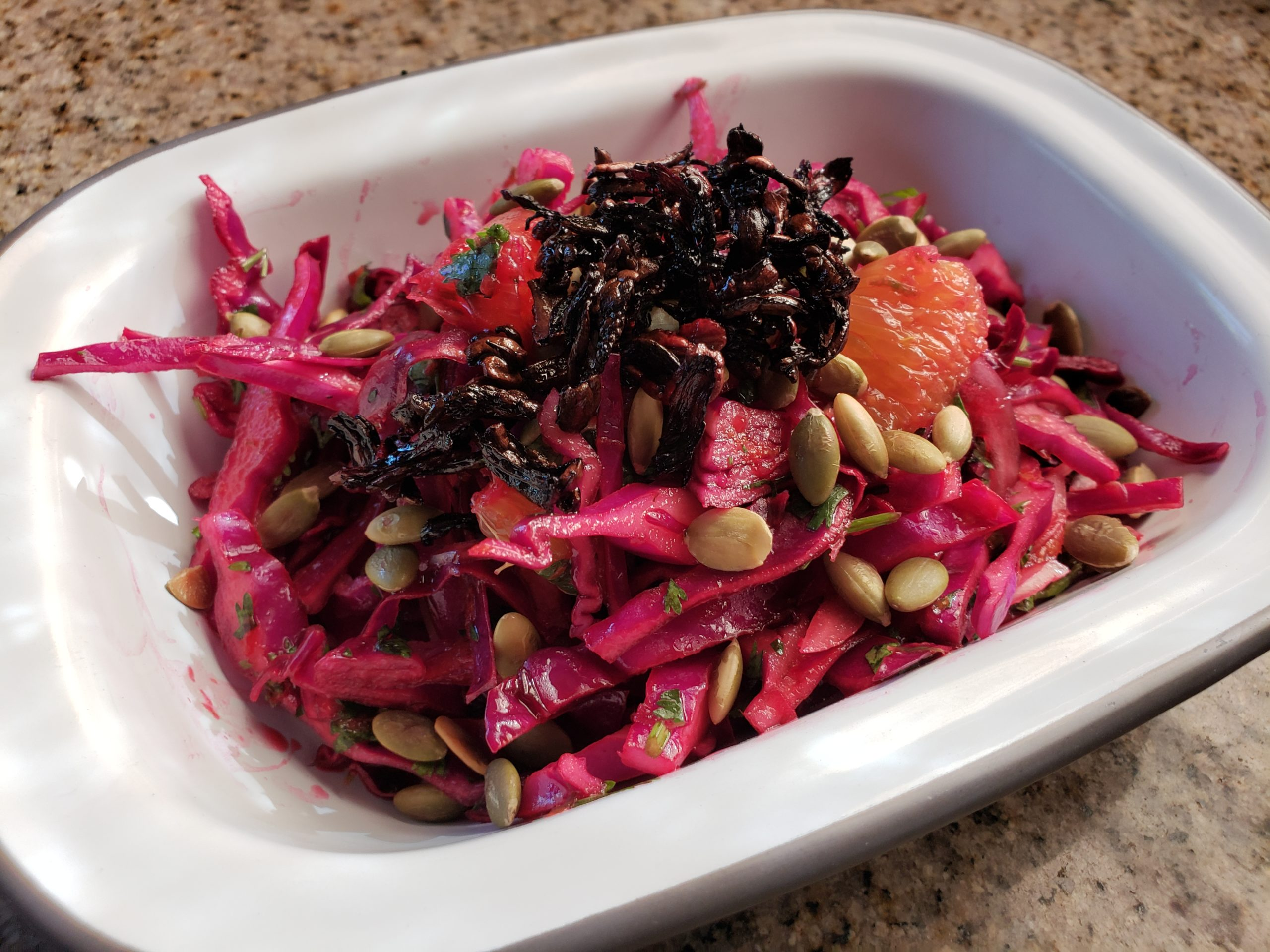Red Cabbage Salad with Hibiscus, Chili, and Orange