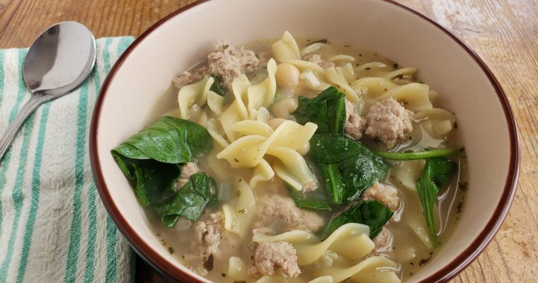 Ground Turkey Soup Recipe with Egg Noodles