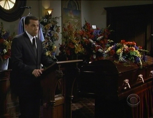 Two and a Half Men funeral for Charlie Sheen character