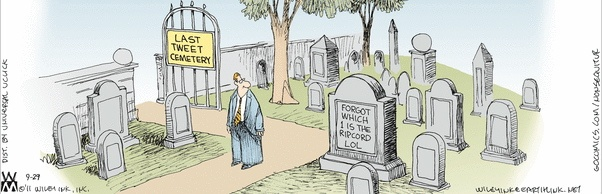 Cartoon - the Last Tweet Cemetery