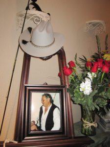 Joe Baecker's hat and fishing pole