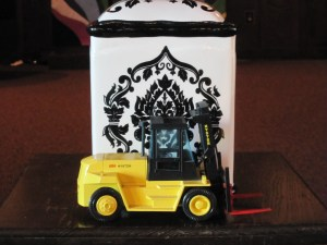 Karl Siebenborn urn and toy truck