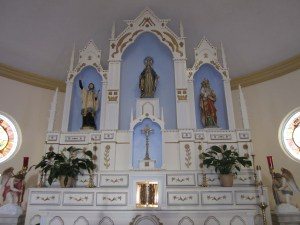 Altar at the Nativity of the Blessed Virgin Mary Church