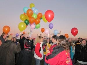 Helium Balloon Salute