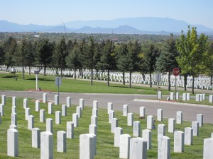 In the Santa Fe National Cemetery