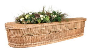 Wicker Basket Casket