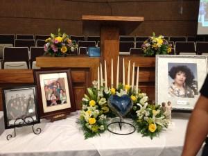 Irene Mora urn and display