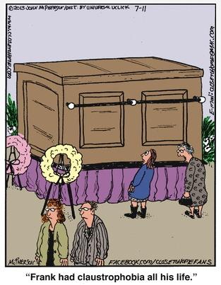 Close to Home Claustrophobia Casket Cartoon