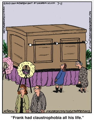 Close to Home Claustrophobia Casket Cartoon