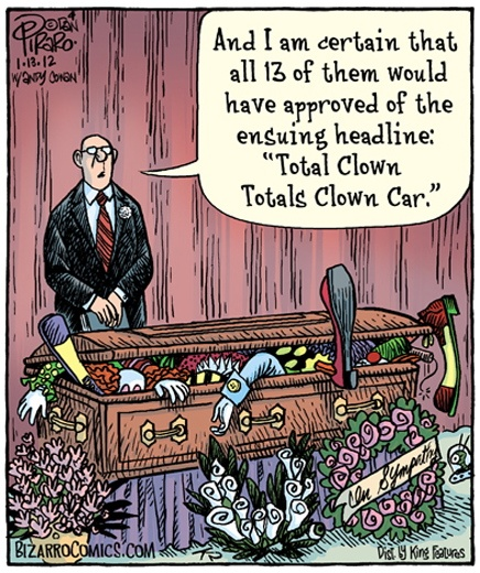 Clown Car Coffin Bizarro