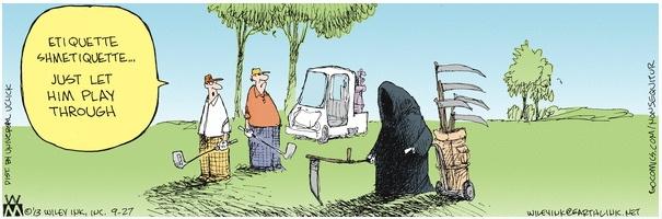 Non Sequitur Grim Reaper Golfer