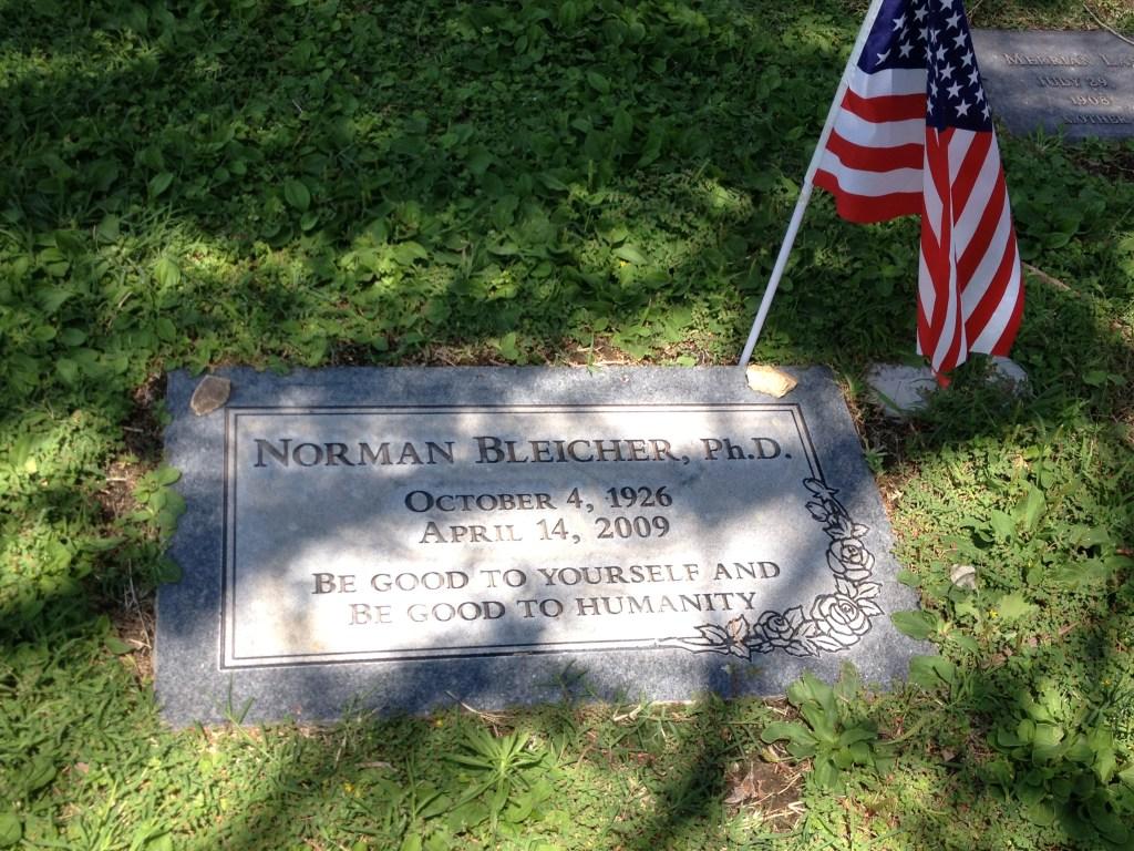 Norm Bleicher Memorial Marker