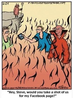 Close to Home Hell Cartoon