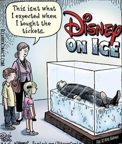 Disney on Ice Bizarro cartoon