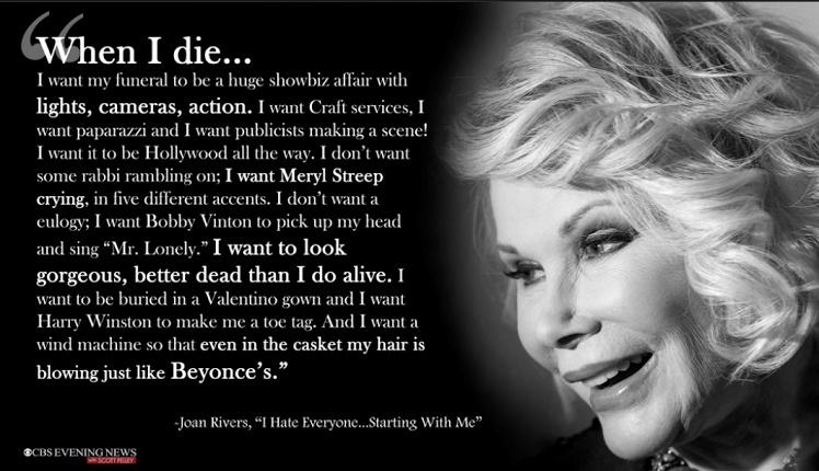 Joan Rivers When I Die
