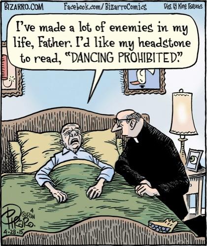 Bizarro Dancing Prohibited