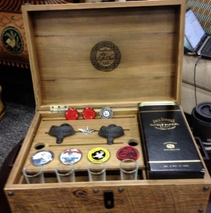 Life Chest's cigar and whiskey box