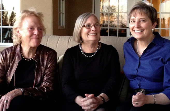 Symposium speakers Peggy Battin (L) and Gail Rubin (R) with NMSU Dean Donna Wagner (C)