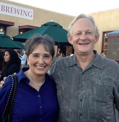 Gail and speaker coach Merv Jersak.