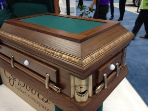 Creative Caskets At NFDA A Good Goodbye Funeral Planning For - Casket coffee table