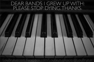 Dear Bands Facebook meme