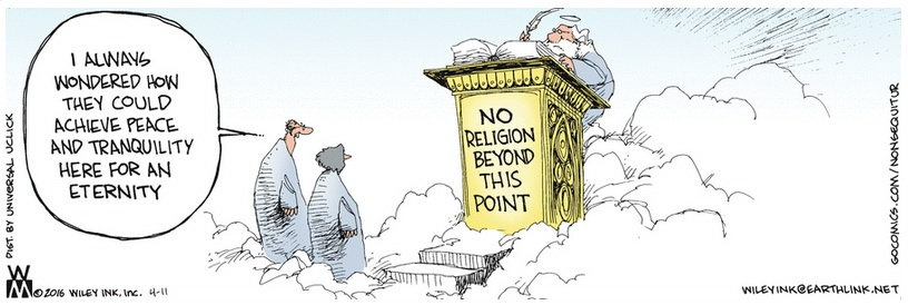 Non Sequitur No Religion Beyond This Point