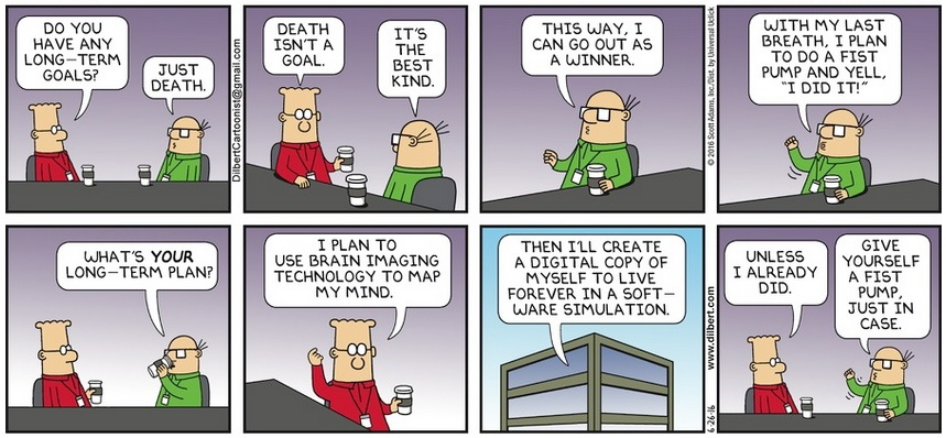 Dilbert Death Goal Cartoon
