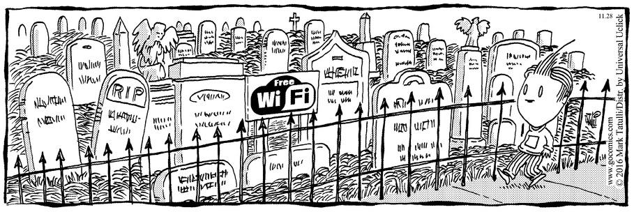 Lio WiFi in the cemetery